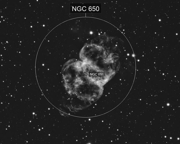 Little Dumbbell Nebula - M76 in H-Alpha