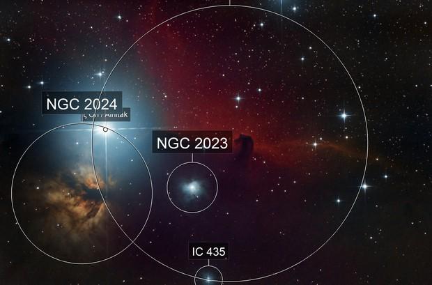NGC 2024 and Horsehead Nebula
