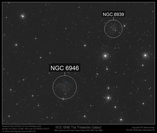 Supernova 2017eaw in NGC 6946 taken in UV