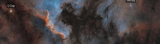 NGC 7000 & IC 5070 Three Panel Panorama