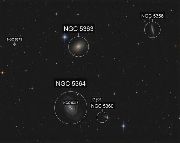 NGC 5363  T 250 f/4  /  ATIK ONE  /  AZEQ6