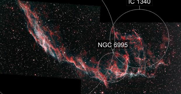 NGC 6992 & NGC 6995 en bi-couleur