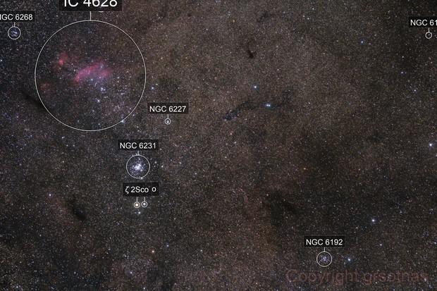 Prawn Nebula Region - Quick Widefield