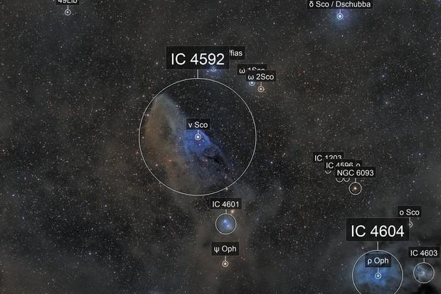 IC 4592 Blue Horsehead Nebula