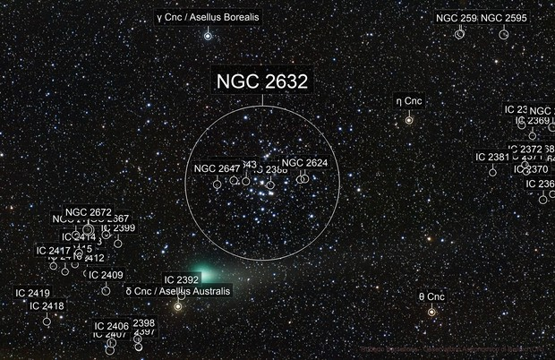 Cometa Lovejoy in M44
