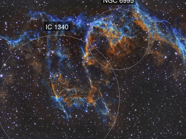 NGC 6995 and IC 1340 of the Eastern Veil