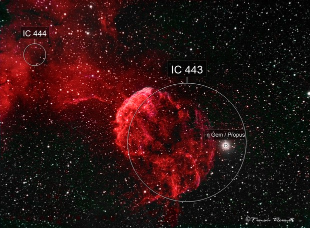 IC 443 Jellyfish Nebula in Gemini