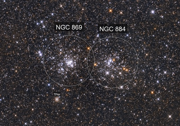 NGC 869 & NGC 884 - Double Cluster