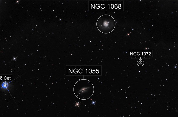 M77 and NGC 1055