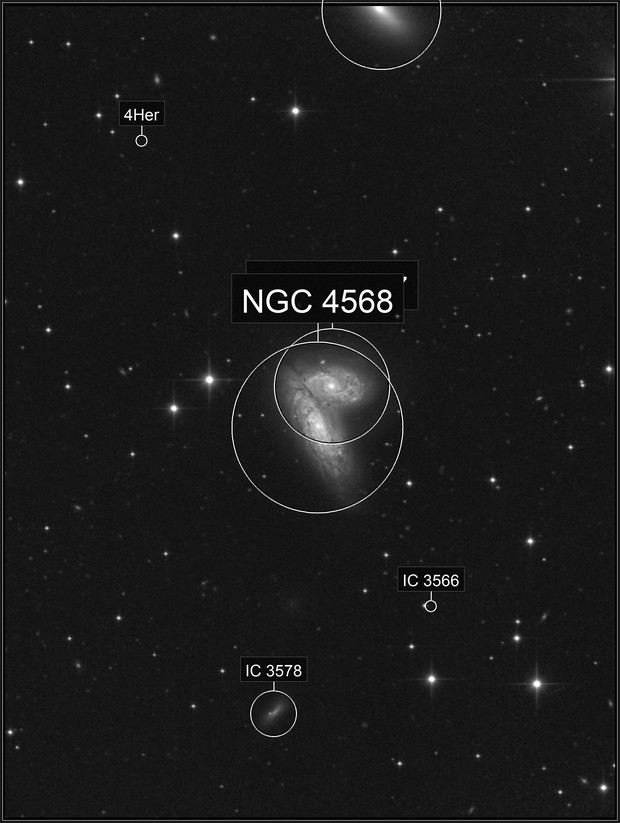 The Siamese Twins,   NGC 4567 and 4568