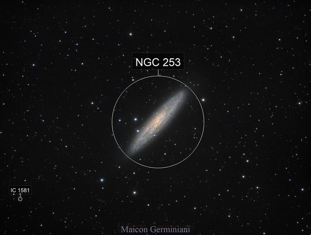 NGC 253 Scultor Galaxy Incredible Details