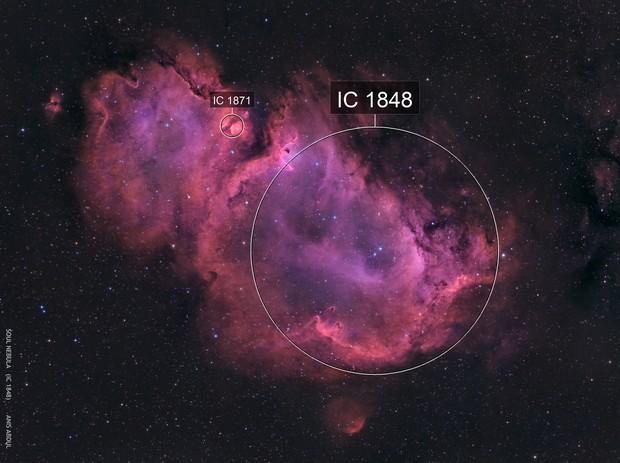 Soul Nebula in Bicolor