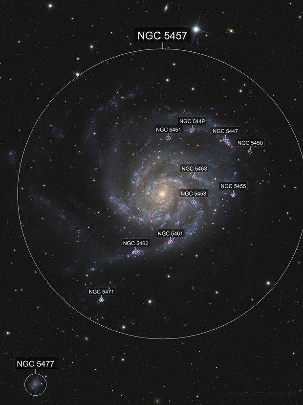 Messier 101 - CCD and DSLR combined
