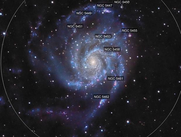M101 - La galaxie du Moulinet