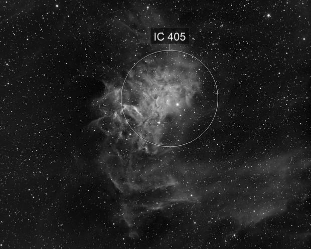 Flaming Star Nebula - Ha