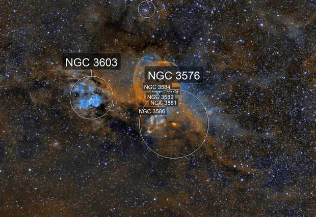 NGC 3576 - NGC 3603
