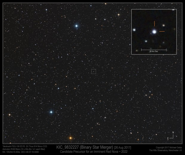 KIC_9832227 (Precursor) - Possible Binary Star Merger in Cygnus