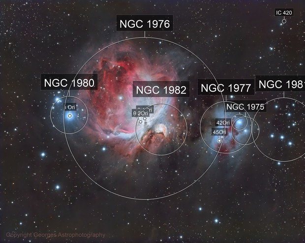 Messier 42/43 en LRVB
