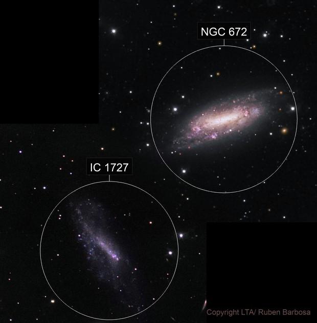 NGC 672 and IC 1727 (2 panels)