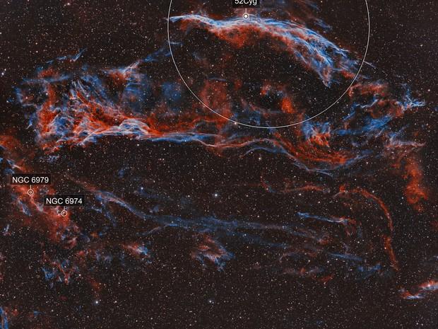 Western Veil Nebula HOO