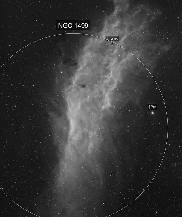 California Nebula NGC1499 2-Panel-Mosaic H-Alpha