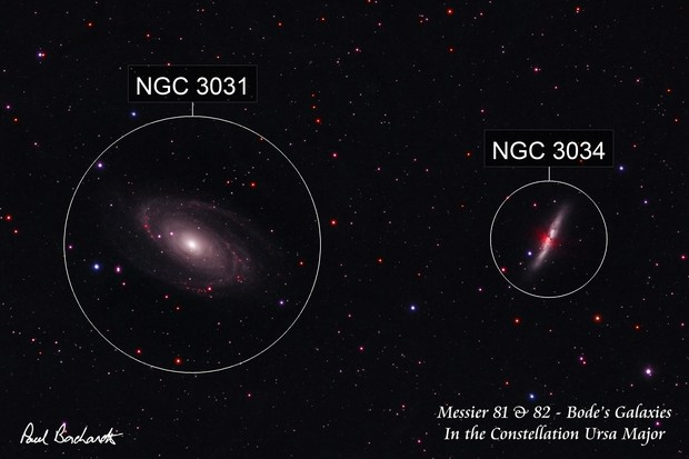Messier 81 & 82 - Bode's Galaxies