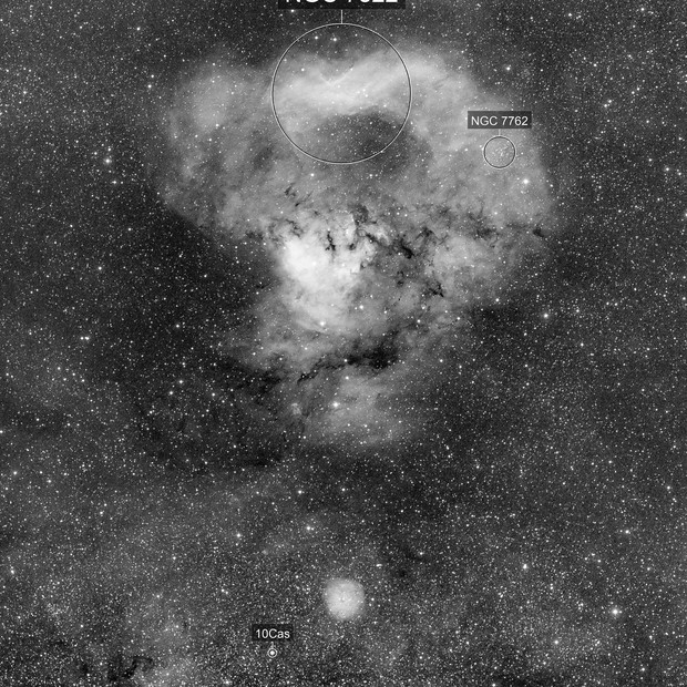 Sharpless 171 / NGC  7822 (H-alpha)