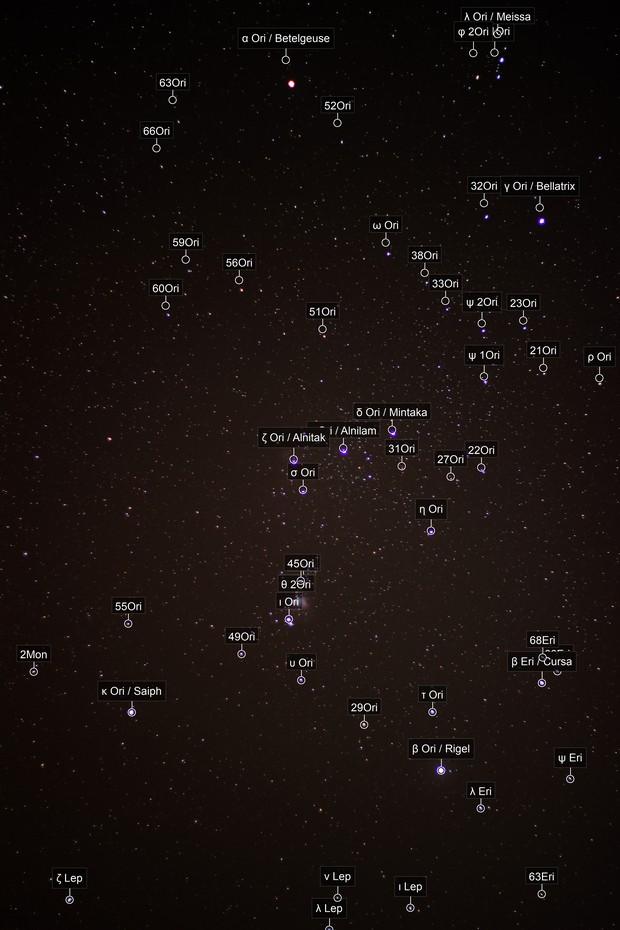 Wide-field of Orion