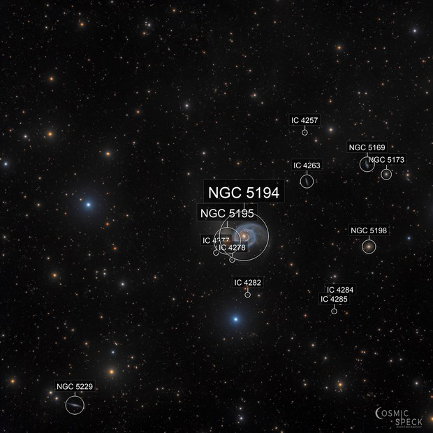 Messier 51 with some faint IFN