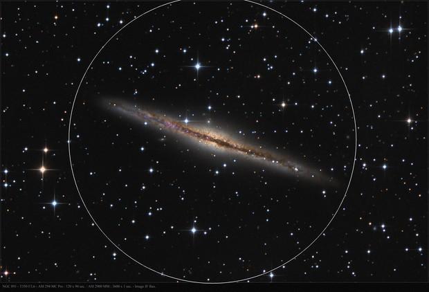 NGC 891 with ASI 294 MC Pro