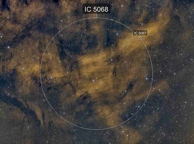 Bright Nebula IC 5068 in Cygnus - Bicolor