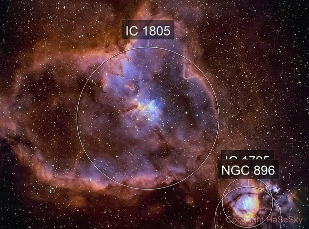 Heart Nebula (IC 1805) in narrowband