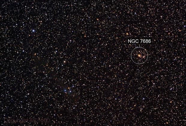 NGC 7686 - wide field