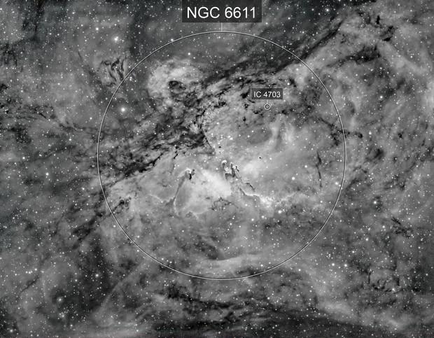 M16 in Hydrogen-alpha light