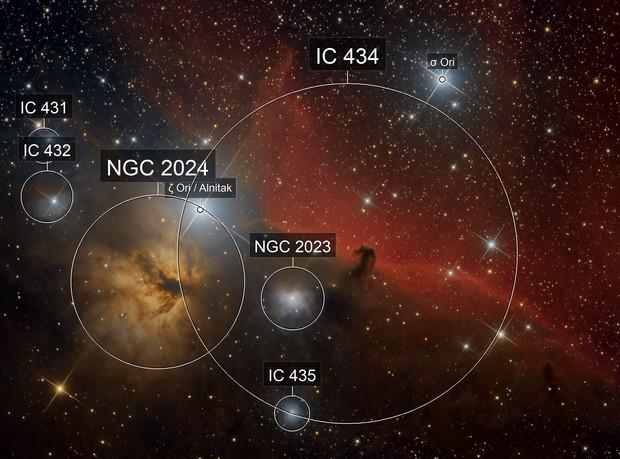 IC 434 - Pferdekopfnebel und Flammennebel