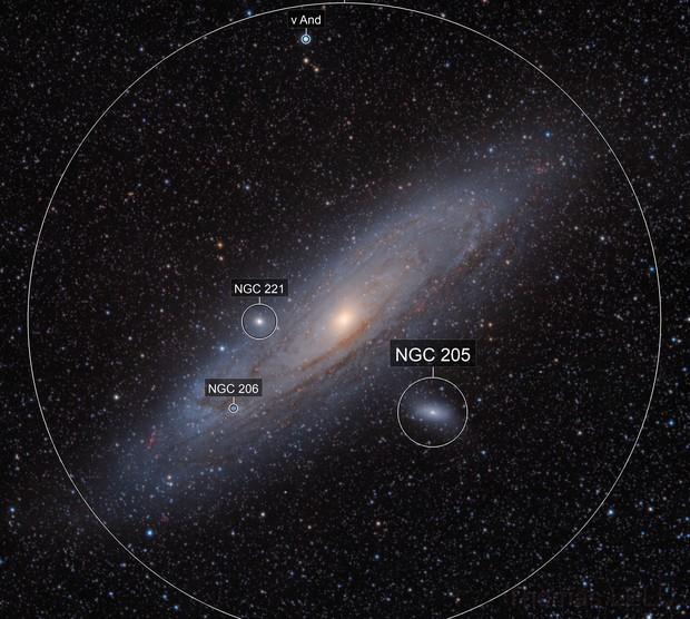 Andromeda galaxy RHaVB