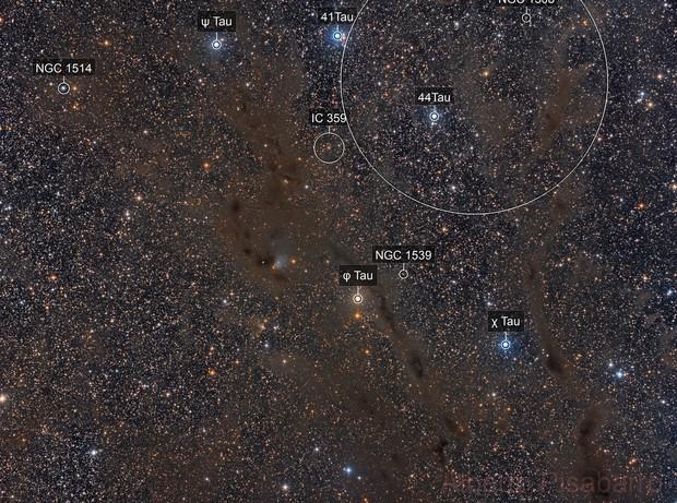 Widefield- B7 Dark Nebula in Taurus