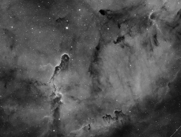 ZWO 1600mm IC1396 first light in Ha