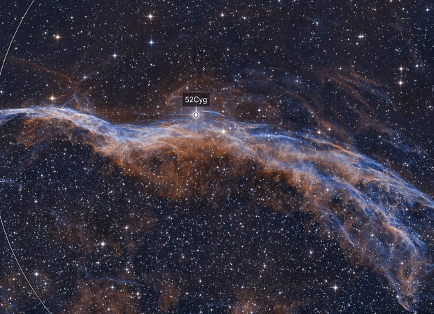 NGC6960 - Veil Nebula - les dentelles