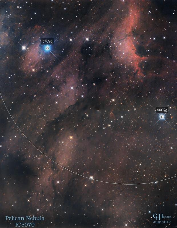 Pelican Nebula - IC5067 - IC5070