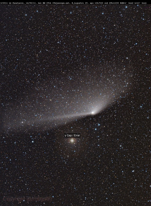 comet C/2011 L4 Panstarr  from New Mexico