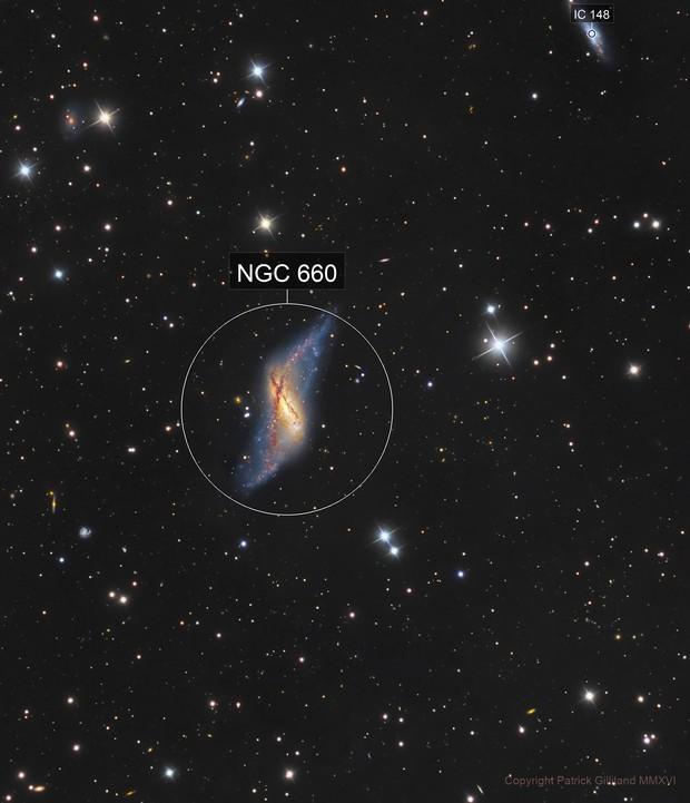 NGC 660 - The Polar Ring Galaxy/When Galaxies Collide