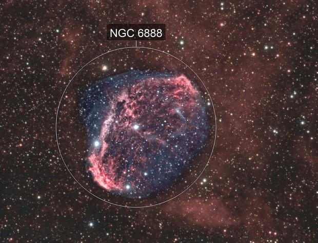 Crescent nebula Hoo 32hours exposure