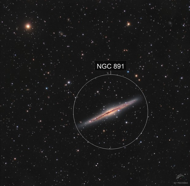 Galaxie Ngc891 C8 Edge f/7 Atik4000
