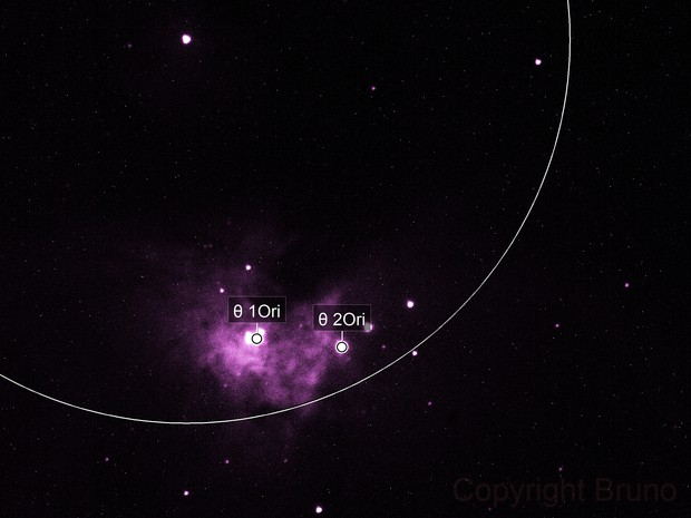 Testaufnahme  Orion Nebel