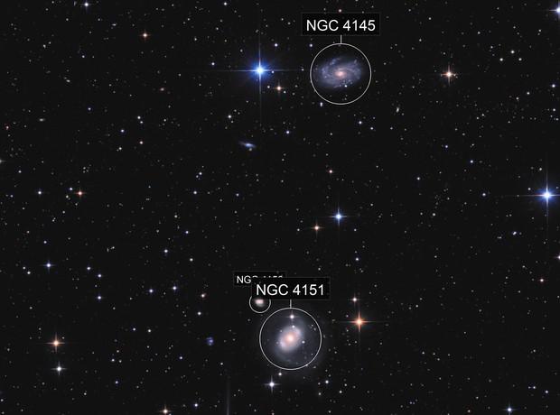 NGC 4151, NGC 4145 & NGC 4156