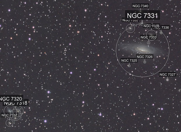 NGC 7331 with Stephan's Quintet