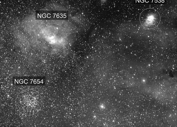Bubble Nebula ,M52, SH2-161/SH2-158