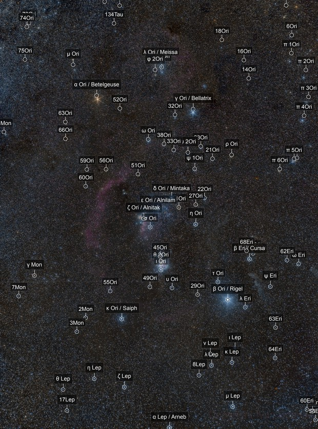 New years Orion - wide field