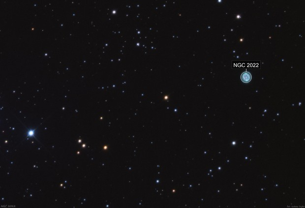 NGC 2022 in Orion (widefield)